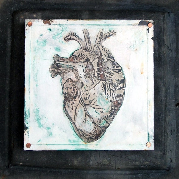 Copper Etching Anatomy Anatomical Heart By Midwestalchemy