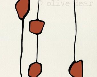 Red ochre bean - large fine art print