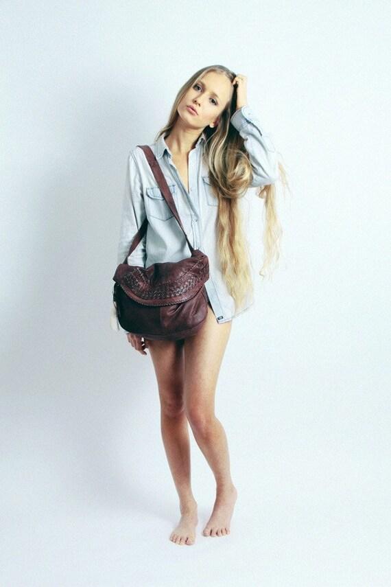 Patona Brown Leather Handbag
