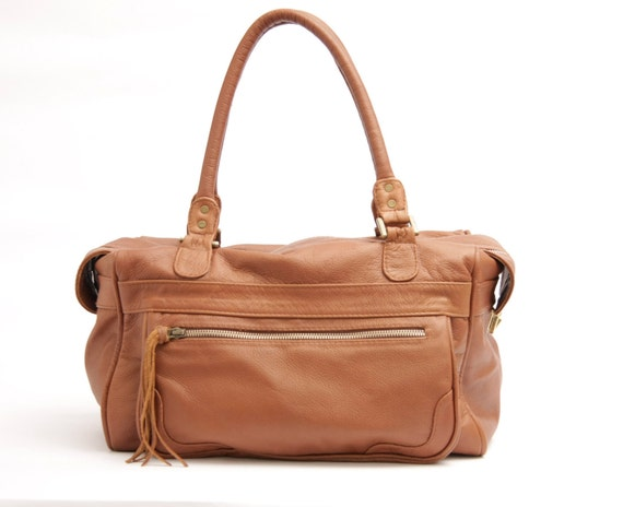 Leather Holdall, soft leather bag, leather carryall,brown leather tote