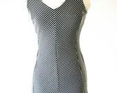 vintage 90s ILLUSIONS black bodycon dress size M
