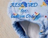 CUSTOM diapers for Shae