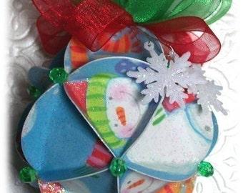 Christmas Ornament Pattern Sphere Card PDF Tutorial DIY Supplies Handmade