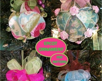 Christmas Ornament Pattern Using Scrapbook Papers or Christmas Cards
