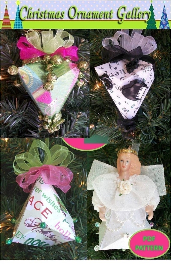 Christmas Ornament German Bell PDF Pattern Scrapbooking Origami Holiday by ChristmasOrnament on Etsy
