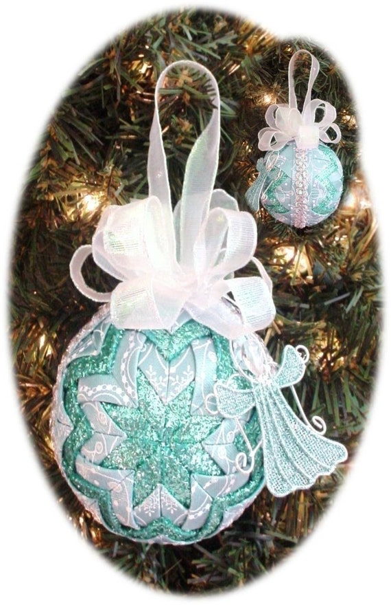Quilting Christmas Ornaments Patterns : Quilted Christmas Ornament Pattern PDF Tutorial HC by ChristmasOrnament on Etsy
