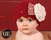 CROCHET HAT PATTERN Instant Download Crochet Hat Pattern Scalloped Crossed Cluster Beanie with Rose Crochet Pattern