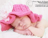 CROCHET PATTERN Lazy Hazy Days Sunhat (5 Sizes Included: Newborn to Ladies) Permission to sell all finished items