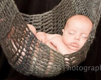 CROCHET HAMMOCK PATTERN - Large Baby Hammock Photography Prop Only
