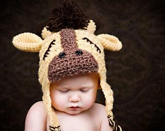 CROCHET GIRAFFE HAT Pattern Sweet Slumber Giraffe Hat (Sizes Newborn to 10 Years) Permission to sell all finished items