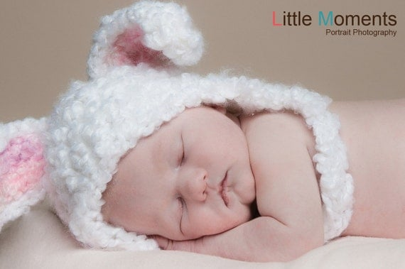 Crochet Pattern For Newborn Bunny Hat : CROCHET PATTERN Floppy Fuzzy Bunny Hat 6 by PrettyDarnAdorable