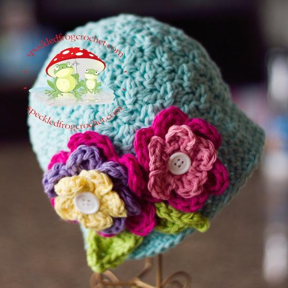 CROCHET HAT PATTERN Beautiful Bloomin Cloche Sizes Newborn, Girls and Ladies Crochet Cloche Pattern