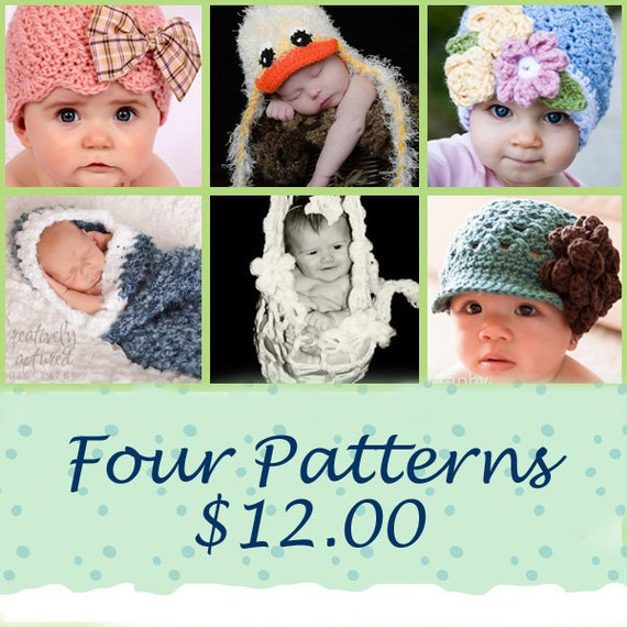 CROCHET PATTERNS 4 Bundle Discount
