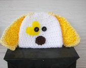 Yellow Puppy Hat- photography prop