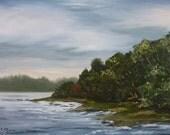 Original Oil Painting lakeshore