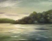 Original Oil Landscape Water