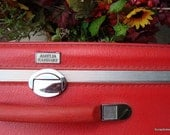 Reserved for ljr LargeVintage Amelia Earhart Glorious Lipstick Red 1965 Luggage