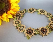 Tutorial for Tuscan Sunflowers collar Necklace