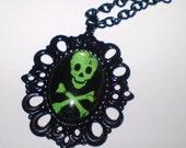 XX Toxic Beauty Skull Necklace XX