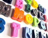 Alphabet Crayons -- Featured on HGTV Special -- Complete Set of Alphabet Letters and Storage Pouch