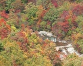 ACEO Fine Art Photo Print Blue Ridge Mountains Fall Colors Red Yellow Waterfalls 3 for the price of 2