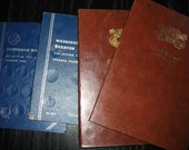 SALE.  Vintage COIN HOLDER books.  4 books for coin collecting albums.