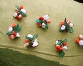 HOLD for Jillian Abbene.  Vintage Tutti Frutti Beads.  7 Fruit Salad clusters.  Lampworks .