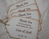 Thank You Gift Tags / Rustic Wedding Favor Tags, Wedding Thank You Tags - set of 50