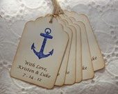 Nautical Wedding Favor Tags, Nautical Wedding Tags, Destination Wedding Tags - Personalized set of 50
