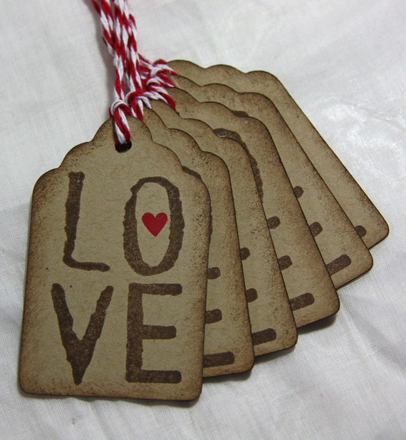LOVE Gift Tags - LOVE - Set of 6