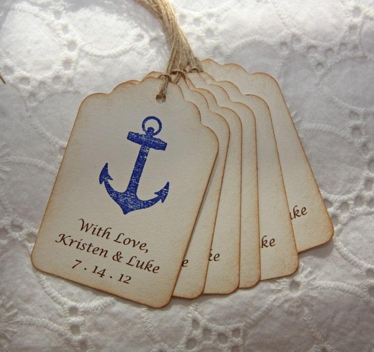 Nautical Wedding Favor Tags Nautical By Toriscustomcreations