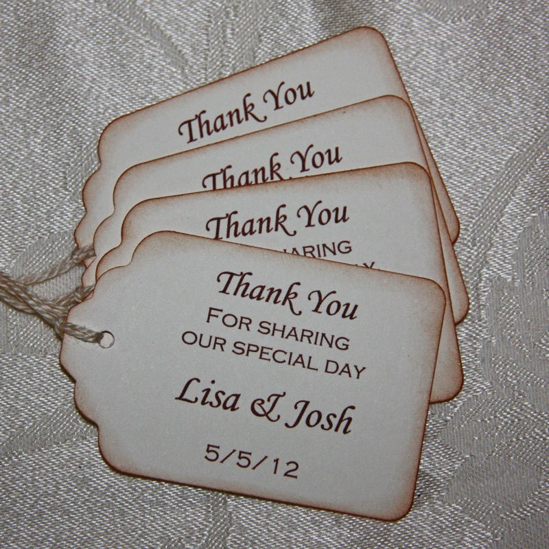 Rustic Wedding Gift Tags : Thank You Gift Tags / Rustic Wedding Favor Tags Wedding Thank