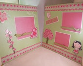 2 - 12x12 Premade Scrapbook pages - Cherry Blossom Girls