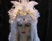 Frost Faerie Headdress Headband / Fairy Costume Wig