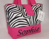 Personalize Zebra Hot Pink Handbag-Little Girls Purse Etsykids team - sewlittleones
