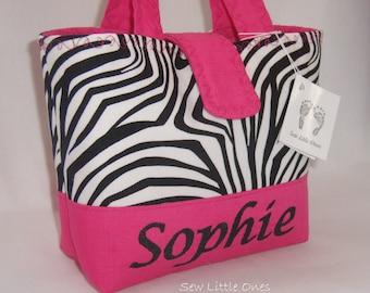 Personalize Zebra Hot Pink Handbag-Little Girls Purse Etsykids team