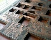 Large Antique Copper Printers Plate