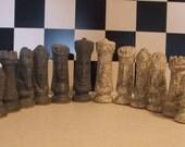 Granite Stone Ceramic Chess Pieces