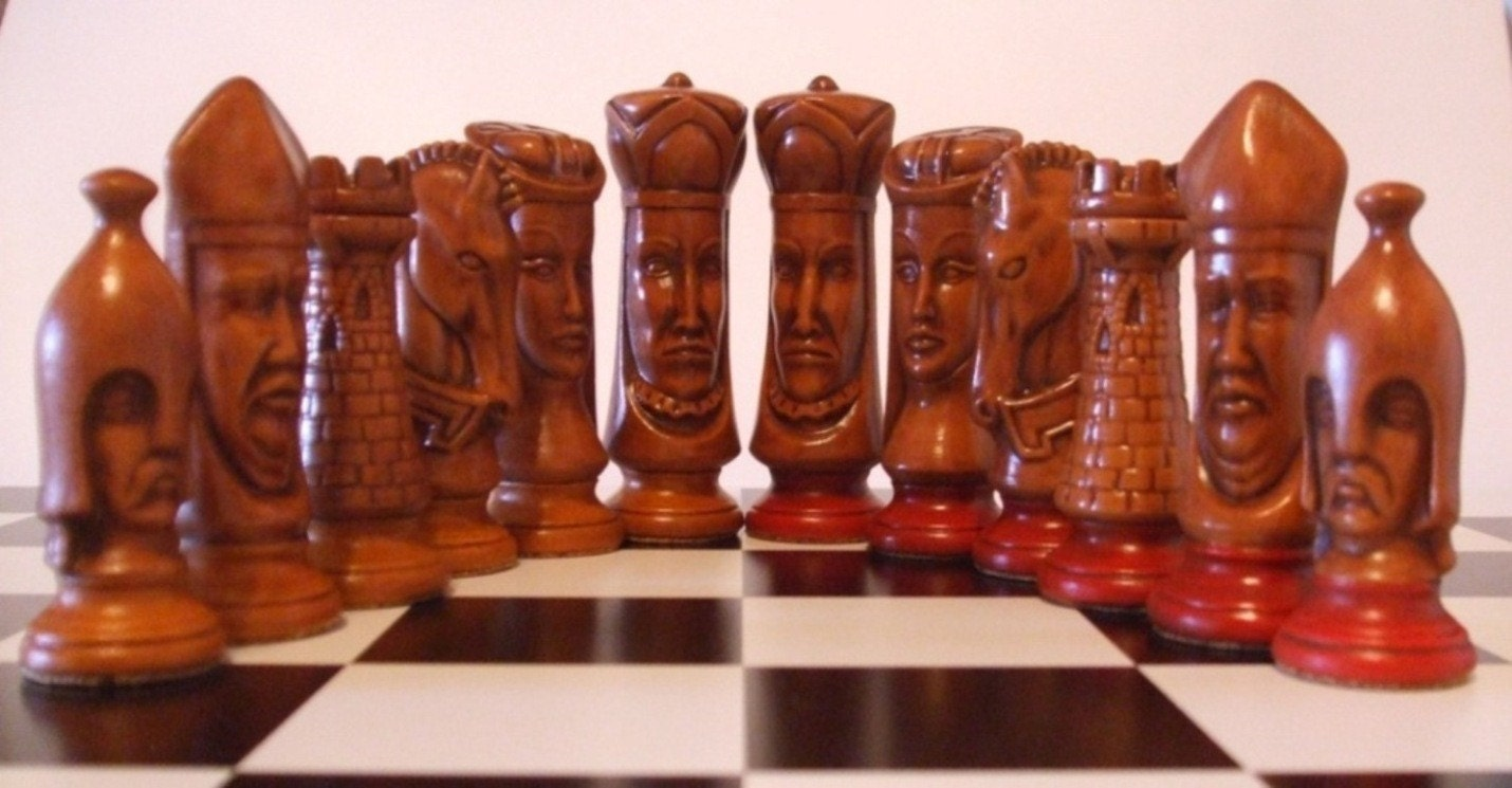 Classic antique ceramic chess set - Collectible chess sets ...