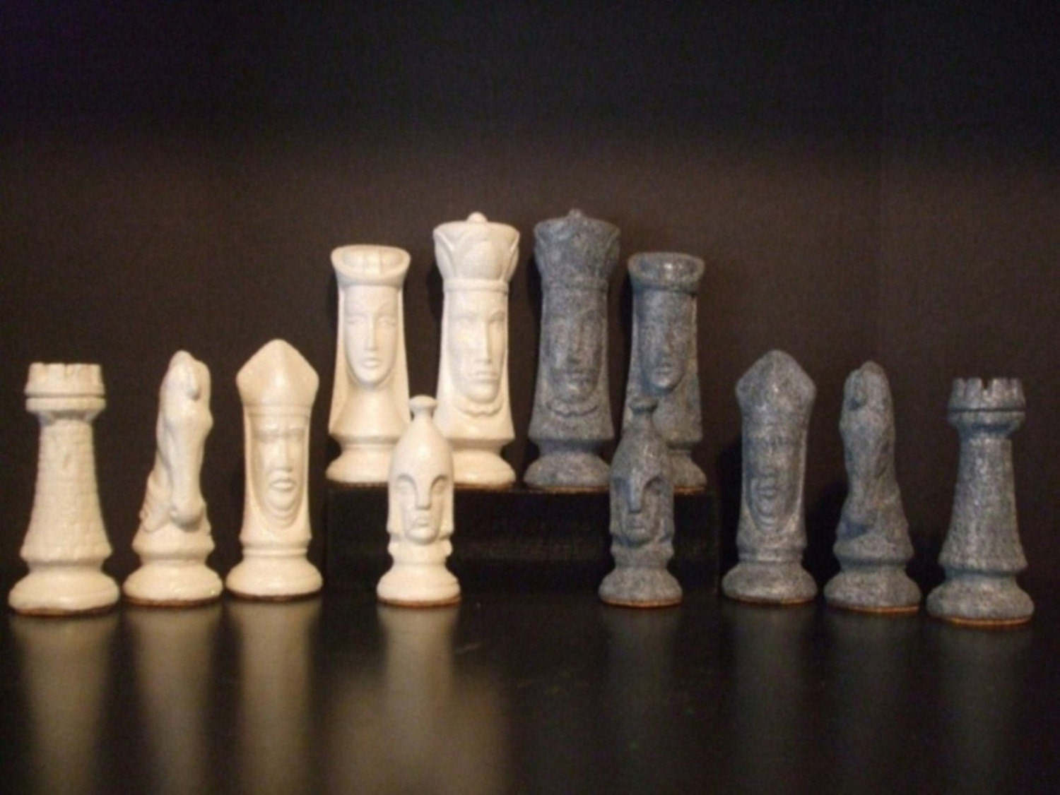 Granite stone ceramic chess set - Granite chess pieces ...