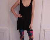 Multicolor Printed Leggings with Elastic Waistband