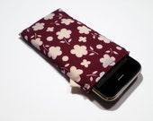 Burgundy Floral iPhone Case