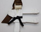 Karate Girl  Hair Bow