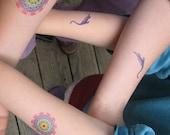 Plesiosaur Dino Temp Tattoos, Perfect Stocking Stuffer! Purple Dinosaur Body Art. Science Temp Tatoos for Kids! Mary Anning Plesiosaur