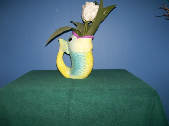Open Mouth Fish Vase