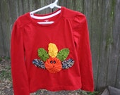 Custom Red Long Sleeve Turkey Yoyo Shirt