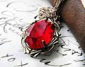 Vampire's Kiss Necklace Swarovski Crystal Vintage Chain Necklace