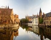 "Fine Art Photograph ""Still Waters"" Bruges Belgium,"