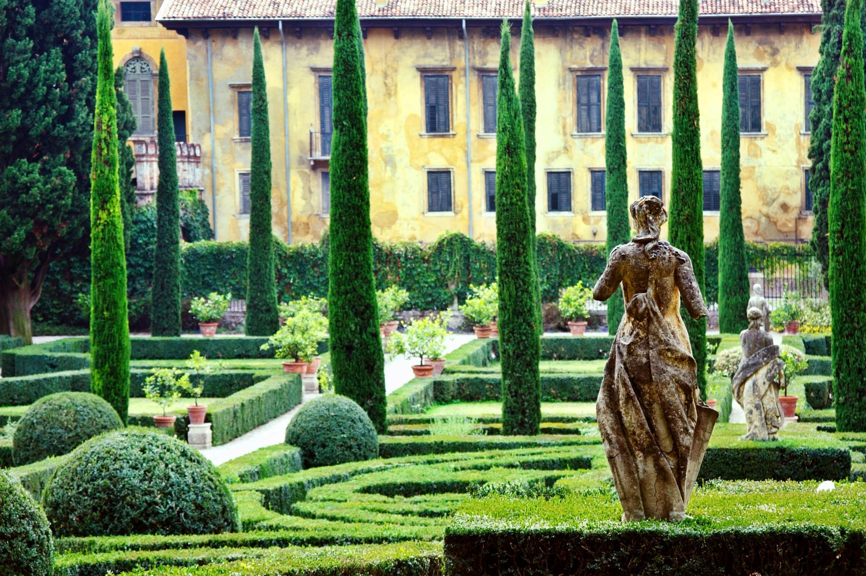 Fine Art Matted Photograph Giardino Giusti Verona