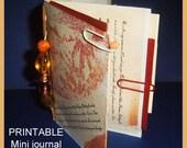 INSTANT Mini Art Journal SMASH book kit  - Print, fold, cut.